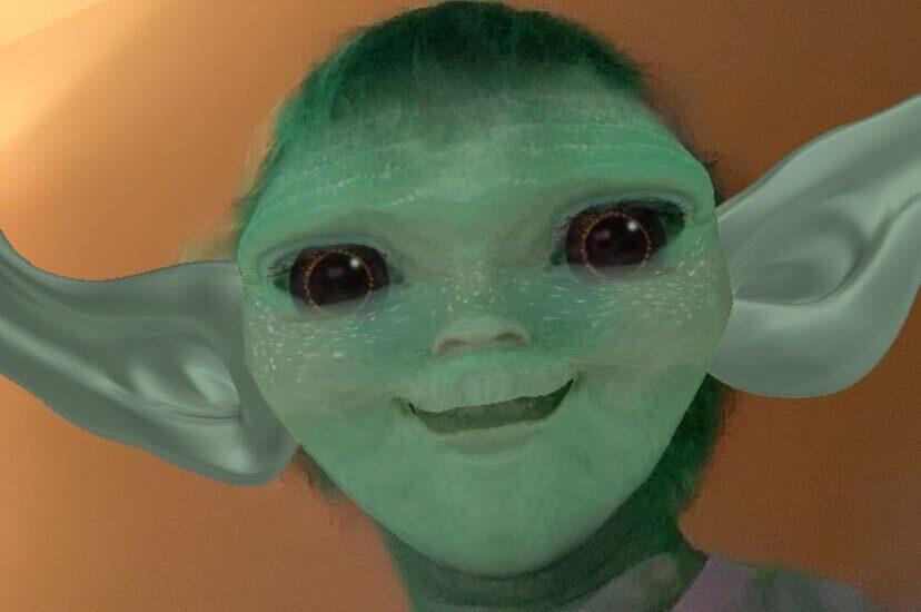 Baby Yoda says hi.