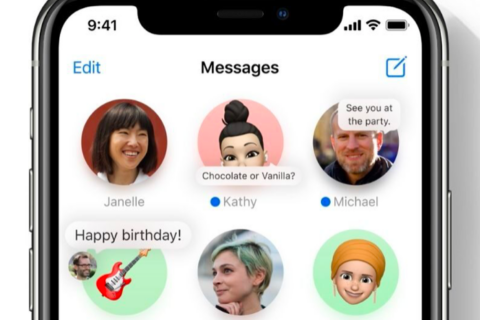 Apple's iOS 14 Messages App has an entirely new layout.
