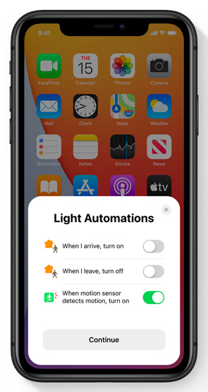 Now, you're able to change up home light automations directly from your phone.