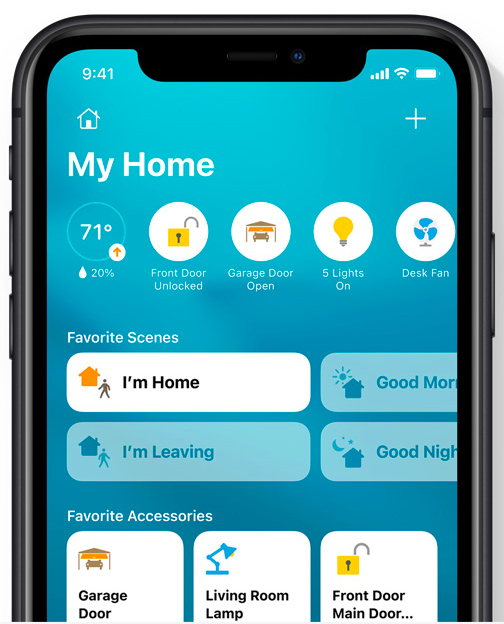 New visual Home status allows you to see all your priorities.