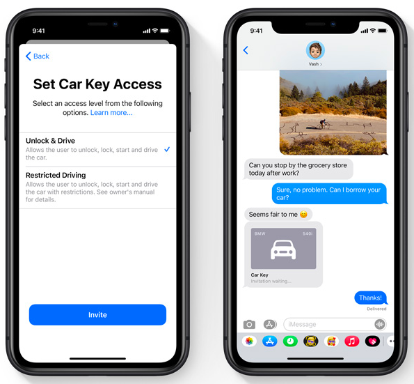 Choose who can have access to your car keys straight from your phone.