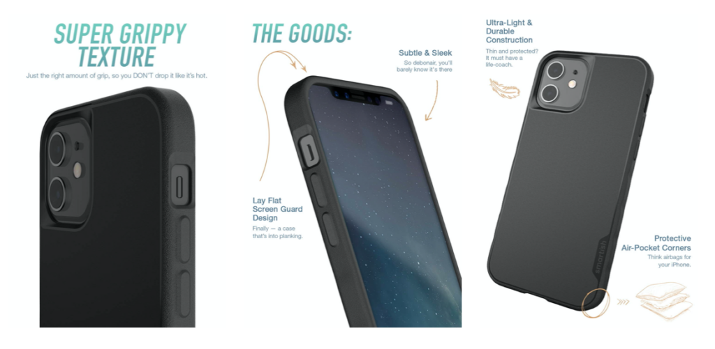 Qualities of the Smartish Kung Fu Grip iPhone cases.