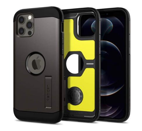 The Spigen Tough Armor iPhone case.