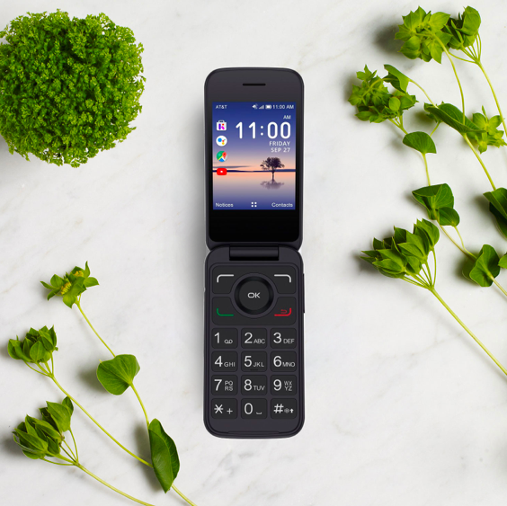 The Alcatel Smart Flip phone at Wing is one of the best cell phones for seniors.