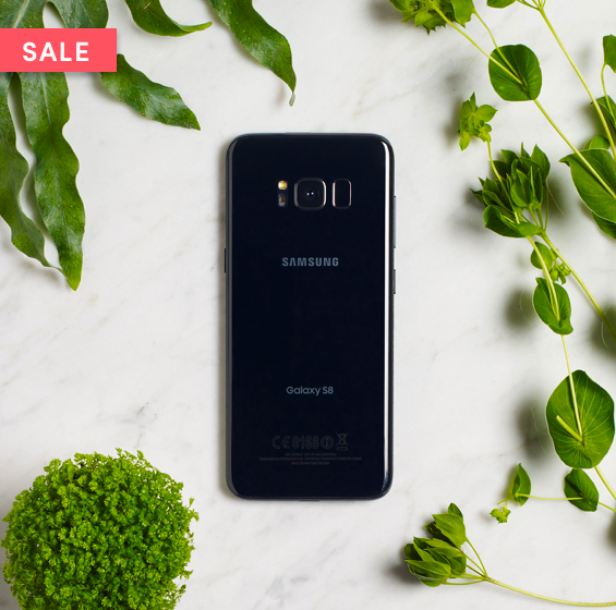 The refurbished Samsung Galaxy S8 no contract phone at Wing.