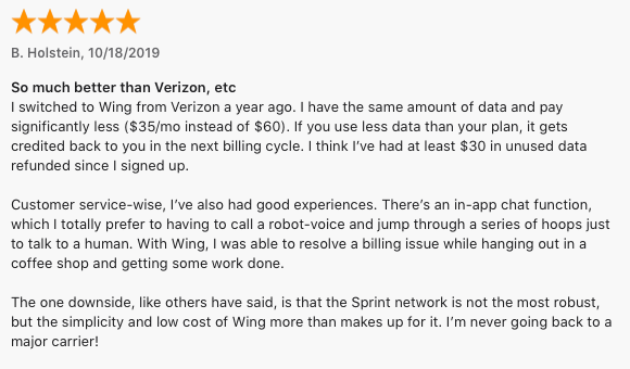 Wing vs. Verizon review