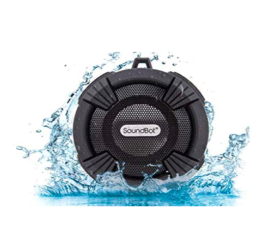 The SoundBot Water Proof Bluetooth Speaker tech gift idea from Amazon.