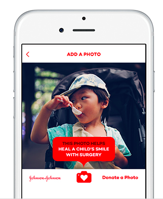 Donate a Photo is the charity app for selfie submission.